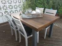 Shabby chic table and chairs refurbish