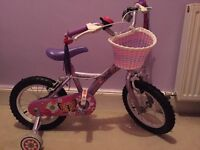 "Girls 14"" Apollo bike"