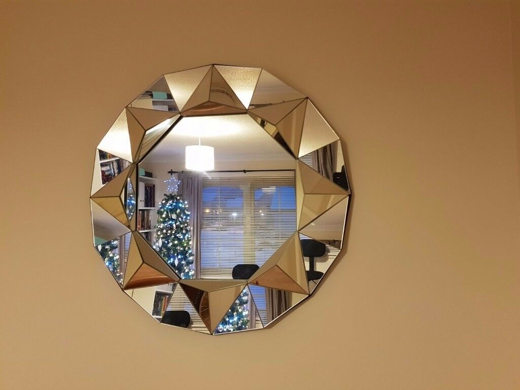 Heart Of House Round Faceted Wall Mirror In Inverness Highland