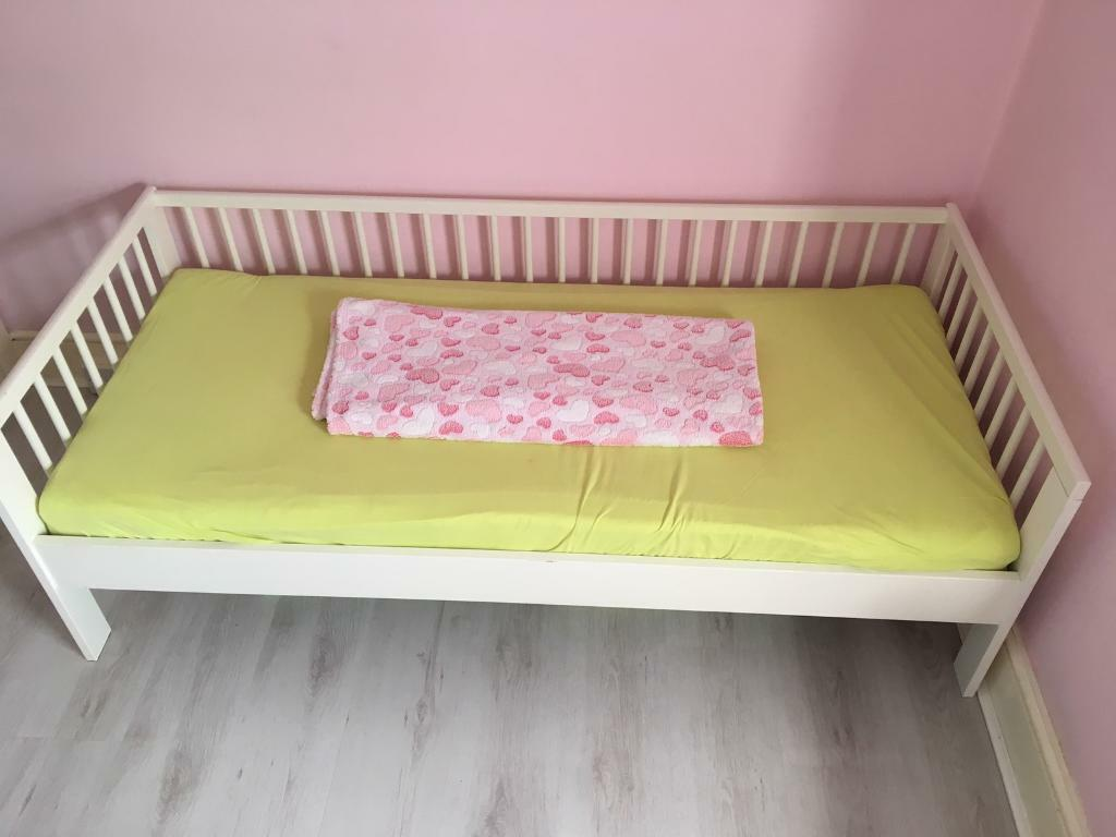 Children's Wooden Ikea Bed.