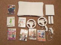 Nintendo Wii Games Console and Wii fit and controllers