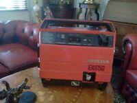 honda ex-650 super silent 4 stroke leisure generator