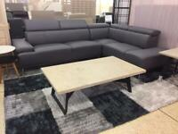 Francisco Maurizio dark grey chaise corner sofa