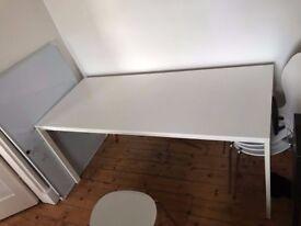 white ikea MELLTORP kitchen table 175x75cm