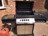 BBQ. Barbeque. Used BroilKing Imperial. New Main Burner, new igniters. Cast iron cooking grills.