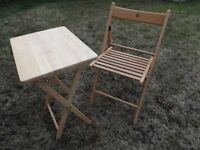Foldable coffe/tea/garden chair and table