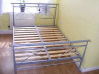 CAN DELIVER - DOUBLE BED FRAME IN VERY GOOD CONDITION