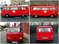 VW Campervan T2 Fire Engine 'Nina' - Ready to camp!