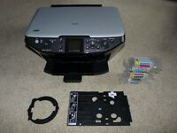 EPSON RX585 All in one Printer + printing on CD/DVD