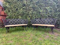 Garden benches x2