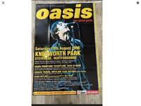 """25 YEAR OLD OASIS POSTER KNEBWORTH LIAM SIZE 60"""" 40"""" LIKE NEW"""