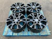 "Refurbished Ford Ranger Wildtrak Alloys 18"" Original Genuine Gloss Black Wheels Swamper"