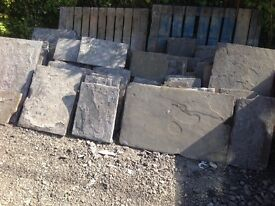 Reclaimed Welsh Pennant Flagstone, up to 40sq m available, £45 per metre delivered!