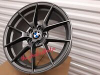 """J1* NEW 4X 18"""" GREY COMPETITION BMW 5 4 3 2 1 SERIES ALLOY WHEELS ALLOYS Z4 763M M PERFORMANCE"""