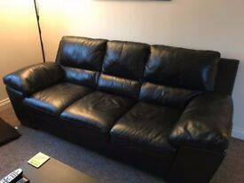 DFS Real Italian Leather Sofa