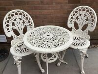 Garden bistro set (table & 2 chairs)