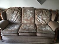 3 Seater+ 1seater+1seater + pouffe