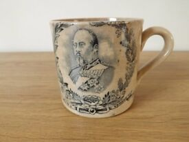 Original Commemorate Edward VII and Queen Alexandra Coronation Mug