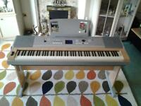 Yamaha DGX620 Electric Keyboard with stand, manuel and several new music books