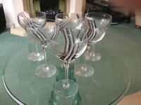 £60 6 x Caithness Panache Midnight Champagne Glasses