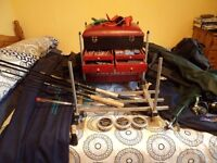 Full set of Coarse fishing gear.