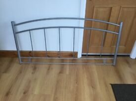 Crome Double Bed Headboard