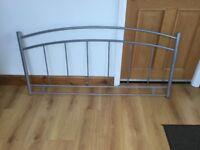 Crome Double Bed Headboard