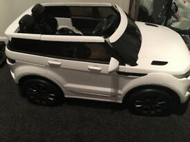 Electric and remote controlled Range Rover