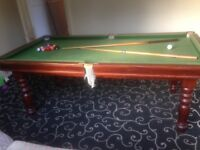 Slate Bed Large Snooker Table