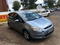 2007 FORD S-MAX 2.0 ZETEC PETROL 7 SEATER FULL BLACK LEATHERS HPI CLEAR