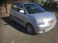 2005/55 KIA PICANTO GLAMOUR 1.1 5DR MOT JAN 2019 ONLY 79000 MLS WITH FSH