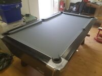 7x4 supreme winner coin operated pool table (black ash effect)