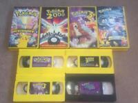 x4 Pokemon Movies VHS