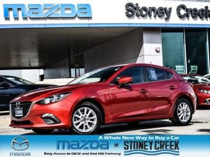 2014 Mazda MAZDA3 GS AUTO, HEATED, ALLOY, B/UP CAM+ B/T+A/C,1 OW