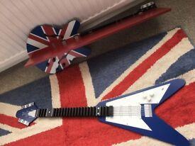 REDUCED - Next Union Jack rug, Guitar shelf and CD storage