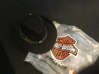Harley Davidson cowboy hat,never worn,still labelled