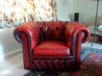 Chesterfield low back armchair