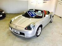 TOYOTA MR2 ROADSTER, 2002 PLATE, 66000 MILES, 2 OWNERS, FULL SERVICE HISTORY & 12 MONTHS MOT.