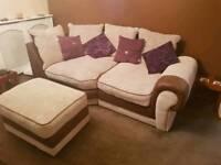 Large two seater corner sofa