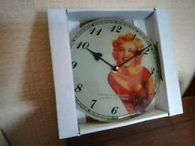 Brand new Marilyn Monroe clock