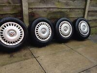 Vw t4 transporter steel wheels with Vw wheel trims
