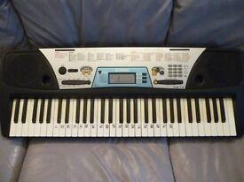 yamaha psr170 full size light weight digital keyboard,has hundreds of voices,styles etc,mains supply