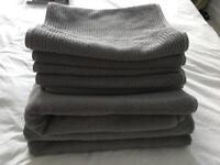 Towels - 3Large, 5 Medium - Egyptian Cotton