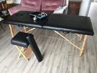 Massage Table with accessories and oils