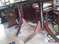Regency dining table,mahogany, very good condition, 160-215CM,bronze castor,extendable,Round End