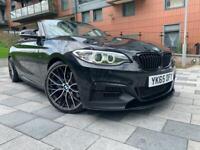 2015 65 BMW F23 M235i CONVERTIBLE AUTO M SPORT M PERFORMANCE LCI FACELIFT F22 BLACK HIGH SPEC