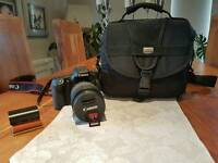 Canon EOS-70D with Canon EFS18-135 IS lens and general cards, case and batteries