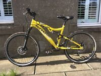 Boys full suspension mountain bike suitable for ages 8-13 - used only 5 times