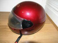 maverick dark Red / Burgundy large Italian Helmet By Mavet Yes