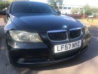 2008 BMW 320i 3Series AUTO 4dr Saloon,Black Colour,91000 Miles,57 RegLEFT HAND DRIVE,REGISTER IN UK